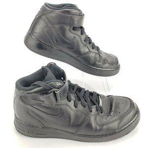 Nike Air Force 1 Black Mid Tops AF-1 315123-001 Me
